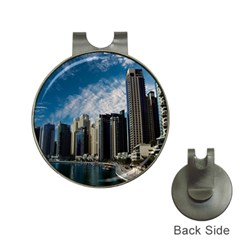 Skyscraper City Architecture Urban Hat Clips With Golf Markers