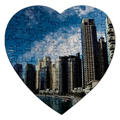 Skyscraper City Architecture Urban Jigsaw Puzzle (heart)