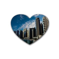 Skyscraper City Architecture Urban Heart Coaster (4 Pack)