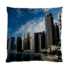 Skyscraper City Architecture Urban Standard Cushion Case (two Sides) by Celenk