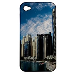 Skyscraper City Architecture Urban Apple Iphone 4/4s Hardshell Case (pc+silicone) by Celenk