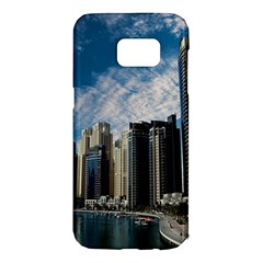 Skyscraper City Architecture Urban Samsung Galaxy S7 Edge Hardshell Case by Celenk