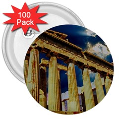 Athens Greece Ancient Architecture 3  Buttons (100 Pack)  by Celenk