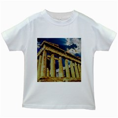 Athens Greece Ancient Architecture Kids White T Shirts