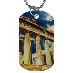 Athens Greece Ancient Architecture Dog Tag (two Sides)