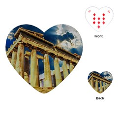 Athens Greece Ancient Architecture Playing Cards (heart)