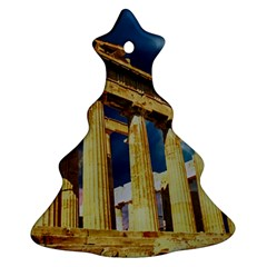 Athens Greece Ancient Architecture Ornament (christmas Tree)  by Celenk
