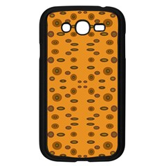 Brown Circle Pattern On Yellow Samsung Galaxy Grand Duos I9082 Case (black) by BrightVibesDesign