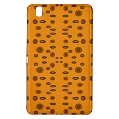 Brown Circle Pattern On Yellow Samsung Galaxy Tab Pro 8 4 Hardshell Case by BrightVibesDesign