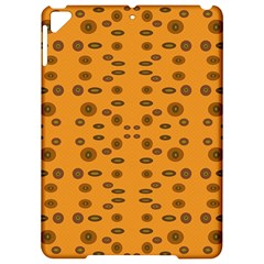 Brown Circle Pattern On Yellow Apple Ipad Pro 9 7   Hardshell Case by BrightVibesDesign