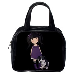 Dolly Girl And Dog Classic Handbags (one Side)