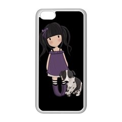 Dolly Girl And Dog Apple Iphone 5c Seamless Case (white) by Valentinaart
