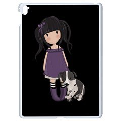 Dolly Girl And Dog Apple Ipad Pro 9 7   White Seamless Case