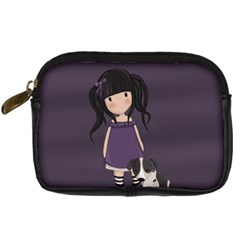 Dolly Girl And Dog Digital Camera Cases by Valentinaart