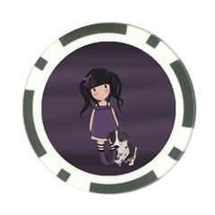 Dolly Girl And Dog Poker Chip Card Guard (10 Pack) by Valentinaart