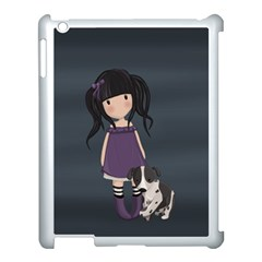 Dolly Girl And Dog Apple Ipad 3/4 Case (white) by Valentinaart