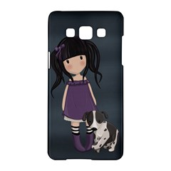 Dolly Girl And Dog Samsung Galaxy A5 Hardshell Case  by Valentinaart