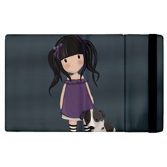 Dolly Girl And Dog Apple Ipad Pro 9 7   Flip Case