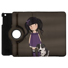 Dolly Girl And Dog Apple Ipad Mini Flip 360 Case by Valentinaart