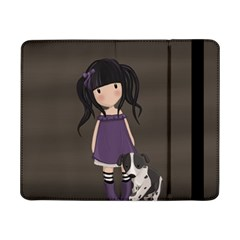 Dolly Girl And Dog Samsung Galaxy Tab Pro 8 4  Flip Case by Valentinaart