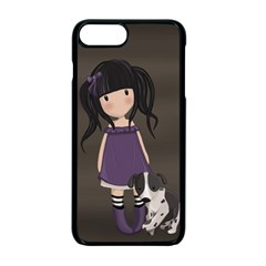 Dolly Girl And Dog Apple Iphone 7 Plus Seamless Case (black) by Valentinaart