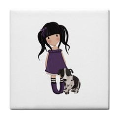 Dolly Girl And Dog Tile Coasters