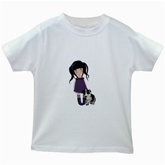 Dolly Girl And Dog Kids White T Shirts