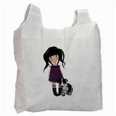 Dolly Girl And Dog Recycle Bag (two Side)  by Valentinaart