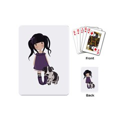 Dolly Girl And Dog Playing Cards (mini)  by Valentinaart