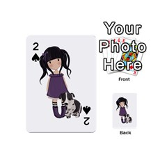 Dolly Girl And Dog Playing Cards 54 (mini)  by Valentinaart