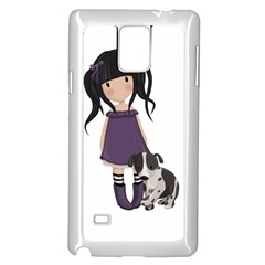 Dolly Girl And Dog Samsung Galaxy Note 4 Case (white)
