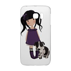 Dolly Girl And Dog Galaxy S6 Edge by Valentinaart