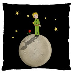 The Little Prince Large Flano Cushion Case (one Side) by Valentinaart