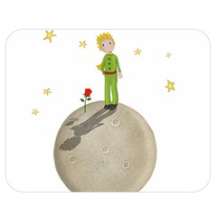 The Little Prince Double Sided Flano Blanket (medium)  by Valentinaart