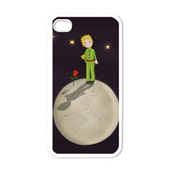 The Little Prince Apple Iphone 4 Case (white) by Valentinaart