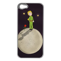 The Little Prince Apple Iphone 5 Case (silver) by Valentinaart