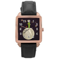 The Little Prince Rose Gold Leather Watch