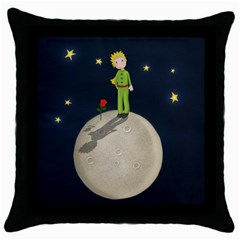 The Little Prince Throw Pillow Case (black) by Valentinaart