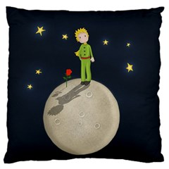 The Little Prince Large Flano Cushion Case (two Sides) by Valentinaart