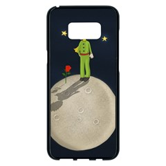 The Little Prince Samsung Galaxy S8 Plus Black Seamless Case by Valentinaart