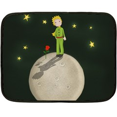 The Little Prince Double Sided Fleece Blanket (mini)  by Valentinaart