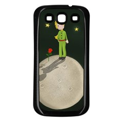 The Little Prince Samsung Galaxy S3 Back Case (black) by Valentinaart