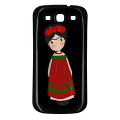 Frida Kahlo Doll Samsung Galaxy S3 Back Case (black) by Valentinaart