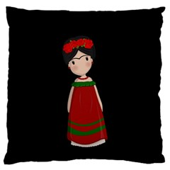 Frida Kahlo Doll Standard Flano Cushion Case (two Sides) by Valentinaart