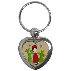 Frida Kahlo Doll Key Chains (heart)  by Valentinaart