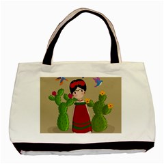 Frida Kahlo Doll Basic Tote Bag (two Sides) by Valentinaart