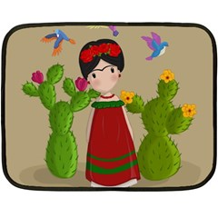 Frida Kahlo Doll Fleece Blanket (mini) by Valentinaart