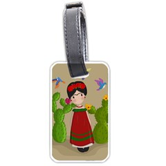 Frida Kahlo Doll Luggage Tags (two Sides) by Valentinaart