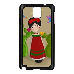 Frida Kahlo Doll Samsung Galaxy Note 3 N9005 Case (black) by Valentinaart