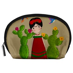 Frida Kahlo Doll Accessory Pouches (large)  by Valentinaart